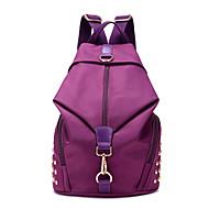 女性 バッグ キャンバス ナイロン バックパック のために カジュアル 秋 オールシーズン パープル フクシャ グリーン ブルー フクシア