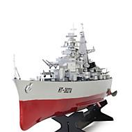 RC Båd HT 3827A Fjernbetjening båd Krigsskib ABS 2 Kanaler 20 KM / H RTF Stor Størrelse