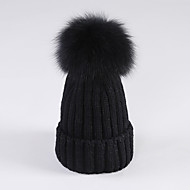 Χαμηλού Κόστους Αξεσουάρ Μόδας-Γυναικεία Μονόχρωμο Βαμβάκι Καπέλο σκι