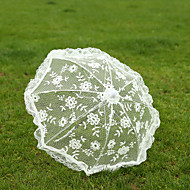 "cheap Wedding Umbrellas-Post Handle Lace Wedding Umbrella Umbrellas 19.7""(Approx.50cm)"
