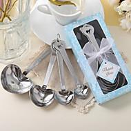 10 cutie / set inima de măsurare linguri favoarea nunta 14 x 6.7 x 2.5 cm / cutie beter cadouri ® consumabile de partid