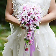 YuXiYing  Elegant Cascade  Shape  Lily Bridal Wedding Bouquet