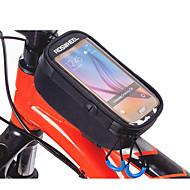 ROSWHEEL Vesker til sykkelramme Mobilveske 5.2 tommers Vanntett Glidelås Anvendelig Fukt-sikker Støtsikker Berøringsskjerm Sykling til