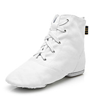 cheap Dance Shoes-Women's Jazz Shoes Canvas Boots Lace-up Customized Heel Customizable Dance Shoes White / Black / Red / Performance