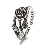 טבעת הטבעת טבעת מתכווננת כסף סטרלינג כסוף פרח נשים וינטאג' פאנק Fashion Ring תכשיטים כסף עבור יומי קזו'אל תחפושות קוספליי מתכוונן
