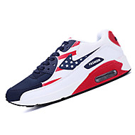 Women's Shoes Tulle Flat Heel Comfort Fashion Sneakers Athletic Blue / Red / White