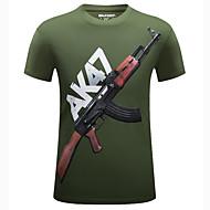 Tee-shirt Homme, Graphique - Coton Imprimé Sports / Manches Courtes