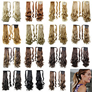 20inch Long Curly Tie Up Ponytails Clip In Black/Brown/Blonde Synthetic Hair Piece Hair Extension For Women