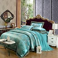 cheap High Quality Duvet Covers-Duvet Cover Sets Luxury 4 Piece Modal Tencel Jacquard Modal Tencel 2pcs Shams 1pc Sham 1pc Flat Sheet
