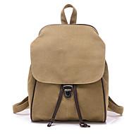 女性 バッグ 秋 キャンバス バックパック のために ショッピング カジュアル ベージュ グレー Brown ブルー カーキ色