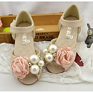 baratos Sapatos de Menina-Para Meninas Sapatos Couro Ecológico Primavera / Outono Conforto Sandálias para Rosa claro / Ivory