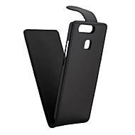 billiga Mobil cases & Skärmskydd-fodral Till huawei P9 / Huawei P9 Lite / huawei Y550 P9 Lite / P9 / P8 Lite Lucka Fodral Enfärgad Hårt PU läder för Huawei P9 Lite / Huawei P9 / Huawei P8 Lite