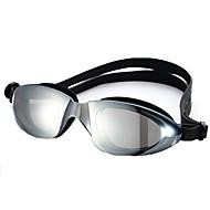 משקפי שחייה גודל מתכוונן רצועה נגד החלקה PU PC שחור כחול שחור כחול