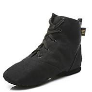 billige Jazz-sko-Dame Jazz-sko Lerret Støvler Snøring Kustomisert hæl Kan spesialtilpasses Dansesko Hvit / Svart / Rød / Ytelse