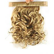 Clips på Hestehaler Elastisk Vikle om Syntetisk hår Hårstykke Hårpåsætning Krøllet
