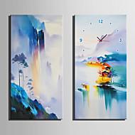직사각형 현대/현대 벽 시계,기타 캔버스 30 x 60cm(12inchx24inch)x2pcs/ 40 x 80cm(16inchx32inch)x2pcs