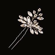 economico Corone, diademi e accessori per capelli sposa-Ottone Perle finte Strass Perno di capelli 1 Matrimonio Copricapo