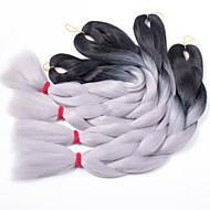 שיער קלוע צמות תיבת צמות טוויסט שיער סינטטי 1pc / Pack, 3 שורשים שיער צמות Ombre