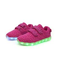 お買い得  LED シューズ-女の子 男の子 男女兼用 靴 キャンバス 春 ライトアップシューズ アイデア コンフォートシューズ スニーカー フリル のために アウトドア グレー フクシャ レッド ブルー ライトグリーン