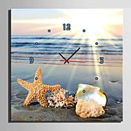 Moderno/Contemporâneo Outros Relógio de parede,Quadrada Tela40 x 40cm(16inchx16inch)x1pcs/ 50 x 50cm(20inchx20inch)x1pcs/ 60 x