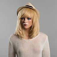 Naisten Ihmisen hiukset Capless Peruukit Jet Black 27/613 10/613 30/613 Keskikokoinen Suora Bob-leikkaus Otsatukalla