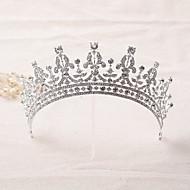 billiga Brudhuvudbonader-Bergkristall Legering Tiaras pannband Huvudbonad with Blomma 1st Bröllop Speciellt Tillfälle Hårbonad