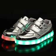 cheap Boys' Shoes-Boys' / Girls' Shoes Patent Leather Spring Comfort / Light Up Shoes Sneakers Magic Tape for Silver / Purple / Golden