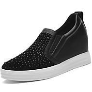 levne Dámské mokasíny-Bez podpatku-Syntetika-Creepers-Dámská obuv-Černá / Tmavošedá-Běžné / Atletika-Platformy