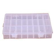 Transparent Shatterproof 24 Grids Plastic Storage Box
