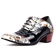 baratos Sapatos de Tamanho Pequeno-Homens Sapatos Couro Envernizado Primavera Verão Outono Inverno Conforto Oxfords Cadarço para Casual Escritório e Carreira Festas & Noite