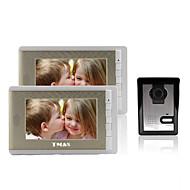 """Χαμηλού Κόστους ZTE-tmax® 7 """"LCD φωτογράφηση θυροτηλεόραση με 500tvl κάμερα νυχτερινής όρασης (1camera να 2monitors)"""