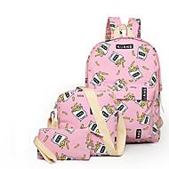 女性 バッグ オールシーズン キャンバス バックパック のために ショッピング カジュアル スポーツ ホワイト ブラック イエロー ピンク