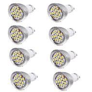 halpa -YouOKLight 8kpl 6W 450-500lm GU10 LED-kohdevalaisimet MR16 15 LED-helmet SMD 5630 Koristeltu Lämmin valkoinen Kylmä valkoinen 100-240V