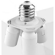 billige Lampesokler og kontakter-e27 til 4 e27 led pære base socket adapter høy kvalitet belysning tilbehør
