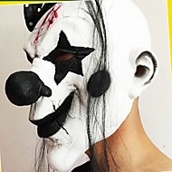 grappige enge clown masker partij halloween nieuwe jaar clown latex masker kostuum volgelaatsmaskers met lang haar
