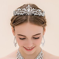 billiga Brudhuvudbonader-Bergkristall Legering Tiaras 1 Bröllop Hårbonad