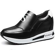 baratos Sapatos Femininos-Mulheres Sapatos Sintético Primavera / Outono Creepers Tênis Plataforma Velcro Branco / Preto