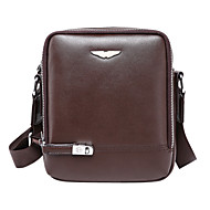 Men Bags All Seasons Cowhide Shoulder Bag for Casual Formal Outdoor Office & Career Black Brown
