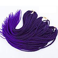 ツイスト三つ編み ヘアブレイズ セネガル 22inch 100%カネカロンヘア レッド ストロベリーブロンド/ブリーチブロンド ブラック/バーガンディ ブラック/ブルー ブラック/パープル ブレイズヘア ヘアエクステンション