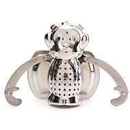 aço inoxidável folha ferramentas beber casa macaco forma de chá infusers linda filtro filtro difusor de chá