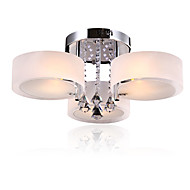 Modern LED Crystal Ceiling Lamp 3 Heads Flush Mount lights Entry Hallway Restaurant  Kitchen light Fixture