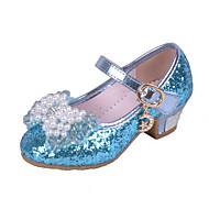 cheap Girls' Shoes-Girls Glass Slipper Princess Crystal Shoes Soft Bottom Dress shoes Leather Princess Shoes Performance shoes Sandal Shoes