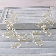 billiga Brudhuvudbonader-Oäkta pärla pannband 1 Bröllop Speciellt Tillfälle Utomhus Hårbonad