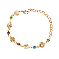 cheap Jewelry-Women's Chain Bracelet - Fashion Round Silver Golden Bracelet For