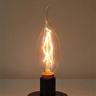 billige Glødelampe-1pc 40 W E14 C35L Varm hvit 2300 k Kontor / Bedrift / Mulighet for demping / Dekorativ Glødende Vintage Edison lyspære 220-240 V