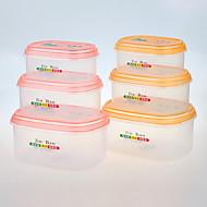 3 キッチン プラスチック ランチボックス