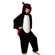Kigurumi plišana pidžama Šišmiš Onesie pidžama Kostim Flanel Flis Crn Cosplay Za Dijete Zivotinja Odjeća Za Apavanje Crtani film Noć