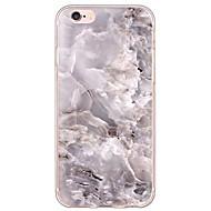 billiga Mobil cases & Skärmskydd-fodral Till Apple iPhone X iPhone 8 iPhone 6 iPhone 6 Plus Ultratunt Genomskinlig Skal Marmor Mjukt TPU för iPhone X iPhone 8 Plus iPhone