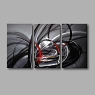 Hang-Painted Oliemaleri Hånd malede - Abstrakt Moderne Omfatter indre ramme / Stretched Canvas