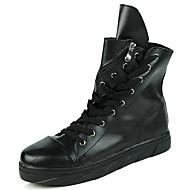 Bărbați Pantofi PU Piele Toamnă Iarnă Cizme la Modă Cizme de Zăpadă Confortabili Cizme Dantelă Fermoar Pentru De Atletism Casual Alb